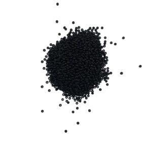 produktbild på glaspärlor svart