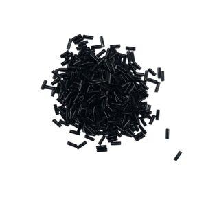 produktbild på svarta glaspärlor stavar