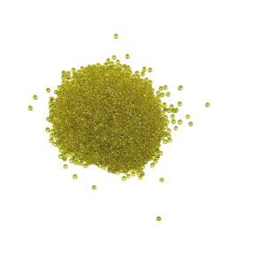 produktbild på gula glaspärlor