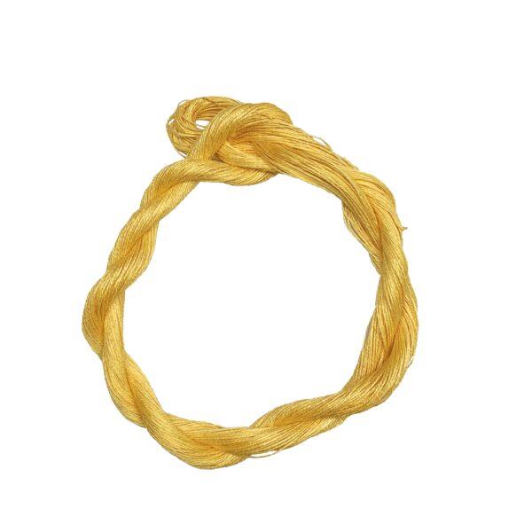 produktbild på bockens lingarn gul 101 100 meter
